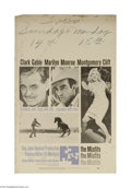 """Movie Posters:Comedy, The Misfits (United Artists, 1961) Window Card (14"""" X 22""""). This is a vintage, theater used poster for this western drama ro..."""