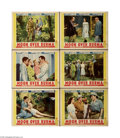"""Movie Posters:Adventure, Moon Over Burma (Paramount, 1940) Lobby Cards (6) (11"""" X 14"""").These are vintage, theater used lobby cards for this adventur... (6items)"""