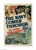 "Movie Posters:War, The Navy Comes Through (RKO, 1942) One Sheet (27"" X 41""). This is avintage, theater used poster for this war drama that was..."