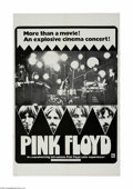 "Movie Posters:Rock and Roll, Pink Floyd (April Fools Productions, 1972) One Sheet (27"" X 41"").This is a vintage, theater used poster for this musical do..."