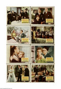 """Movie Posters:Hitchcock, Rebecca (United Artists, R-1956) Lobby Card Set of 8 (11"""" X 14""""). This is a vintage, theater used reissue lobby card set for... (8 items)"""