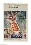 """Movie Posters:Sports, Ride the Wild Surf (Columbia, 1964) Window Card (14"""" X 22""""). This is a vintage, theater used poster for this surf drama that..."""