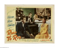 """Movie Posters:Comedy, Road to Rio (Paramount, 1948) Lobby Card (11"""" X 14""""). This is a vintage, theater used poster for this musical comedy that wa..."""