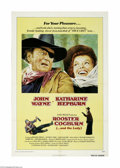 """Movie Posters:Western, Rooster Cogburn (Universal, 1975) One Sheet (27"""" X 41""""). This is a vintage, theater used poster for this western that was di..."""