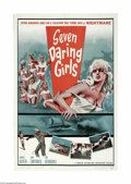 "Movie Posters:Adventure, Seven Daring Girls (Manson Distributing Corp, 1962) One Sheet (27""X 41""). This is a vintage, theater used poster for this a..."