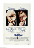 "Movie Posters:Mystery, Sleuth (20th Century Fox, 1972) One Sheet (27"" X 41""). This is avintage, theater used poster for this mystery thriller that..."
