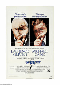 """Sleuth (20th Century Fox, 1972) One Sheet (27"""" X 41""""). This is a vintage, theater used poster for this mystery..."""