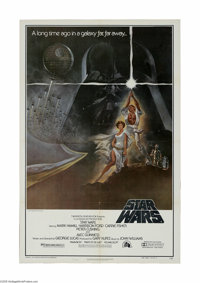 """Star Wars (20th Century Fox, 1976) One Sheet (27"""" X 41""""). Style A. This is a vintage, theater-used poster for..."""