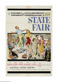 """Movie Posters:Musical, State Fair (20th Century Fox, 1962) One Sheet (27"""" X 41""""). This is a vintage, theater used poster for this musical that was ..."""