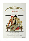 "Movie Posters:Crime, The Sting (Universal, 1974) One Sheet (27"" X 41""). This is avintage, theater used poster for this con-artist classic that w..."