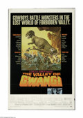 "Movie Posters:Science Fiction, Valley of the Gwangi (Warner Brothers, 1969) One Sheet (27"" X 41"").This is a vintage, theater used poster for this sci-fi w..."
