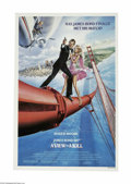 "Movie Posters:Action, A View to a Kill (MGM, 1985) One Sheet (27"" X 41""). This is avintage, theater used poster for this Bond thriller that was d..."