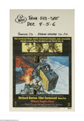 "Movie Posters:War, Where Eagles Dare (MGM, 1968) Window Card (14"" X 22""). This is avintage, theater used poster for this war adventure that wa..."