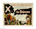 """X the Unknown (Warner Brothers, 1957) Half Sheet (22"""" X 28""""). This is a vintage, theater used poster for this..."""