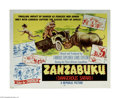 """Movie Posters:Documentary, Zanzabuku (Republic, 1956) Half Sheet (22"""" X 28""""). This is a vintage, theater used poster for this documentary that was dire..."""