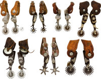 Lot of Seven Assorted Pairs of Spurs
