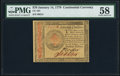 Colonial Notes:Continental Congress Issues, Continental Currency January 14, 1779 $70 PMG Choice About Unc 58.. ...