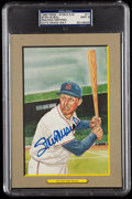 Autographs:Post Cards, 1985 Stan Musial Signed Perez-Steele Great Moments #11, PSA/DNA MT 9....