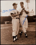 Autographs:Photos, Mickey Mantle & Ted Williams Signed Oversized Photograph....