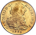 Colombia, Colombia: Charles III gold 8 Escudos 1775 P-JS AU55 NGC,...