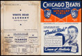 Football Collectibles:Programs, 1938 Chicago Bears vs. Washington Redskins Program. ...