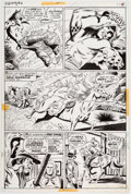 Original Comic Art:Panel Pages, Syd Shores and Jack Abel Red Wolf #6 Story Page 11 OriginalArt (Marvel, 1973)....