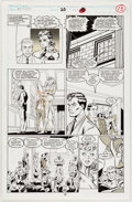 Original Comic Art:Panel Pages, Mark Bagley and Larry Mahlstedt The New Warriors #25 StoryPage 9 Original Art (Marvel, 1992...