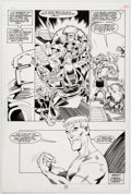 Original Comic Art:Panel Pages, Joe Staton and Terry Beatty Guy Gardner #11 Story Page 22Original Art (DC, 1993)....
