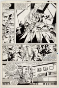 Original Comic Art:Panel Pages, Gene Colan and Dave Simons Captain America Annual #5 StoryPage 19 Original Art (Marvel, 198...