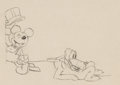 Animation Art:Production Drawing, Mickey's Gala Premier Mickey Mouse And Pluto ProductionDrawing Animation Art (Walt Disney, 1933)....