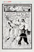 Original Comic Art:Panel Pages, Ron Lim and Tom Christopher Silver Surfer #45 Story Page 20Original Art (Marvel, 1991)....