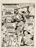 Original Comic Art:Splash Pages, Pat Boyette Jungle Jim Contents/Splash Page for UnpublishedIssue Original Art (Charlton Comics, c. 1970)....