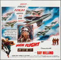 "Movie Posters:Adventure, High Flight (Columbia, 1957). Six Sheet (79"" X 78.5""). Adventure....."