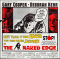 "Movie Posters:Thriller, The Naked Edge (United Artists, 1961). Six Sheet (80"" X 79"").Thriller.. ..."