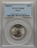 Statehood Quarters, 2004-P 25C Iowa MS68 PCGS. PCGS Population: (20/0). ...