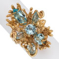 Estate Jewelry:Rings, Aquamarine, Topaz, Gold Ring. ...