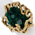 Estate Jewelry:Suites, Dioptase, Gold Ring. ...