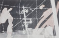 Photographs, Robert Rauschenberg (American, 1925-2008). Untitled (From the Bleacher Series), 1990. Bleached gelatin silver. 9 x 14 in...