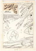 "Original Comic Art:Complete Story, St. John Artist Adventures of Mighty Mouse #7 Complete12-Page Story ""Mighty Mouse and the Spacenappers"" Original ..."