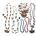 Estate Jewelry:Lots, Multi-Stone, Cultured Pearl, Gold, Yellow Metal Necklaces. ... (Total: 10 Items)