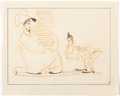 Animation Art:Production Drawing, Mother Goose Goes Hollywood Laurel and Hardy StoryboardDrawing Animation Art (Walt Disney, 1938)....