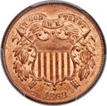 Two Cent Pieces, 1868 2C MS65 Red PCGS Secure....