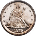 Proof Twenty Cent Pieces, 1875 20C PR63 Cameo PCGS. BF-1, R.1....