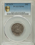 Twenty Cent Pieces: , 1875-CC 20C XF40 PCGS Secure. PCGS Population: (107/810 and 0/6+). NGC Census: (35/524 and 0/7+). CDN: $650 Whsle. Bid for ...