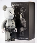 Prints & Multiples, KAWS X BE@RBRICK. Dissected Companion 1000% (Grey), 2010. Painted cast vinyl. 28 x 13-1/4 x 9-1/2 inches (71.1 x 33.7 x ...