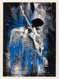 Prints & Multiples, Mr. Brainwash (French, b. 1966). Jimi Hendrix (Blue), 2015. Screenprint in colors on hand torn archival paper. 30 x 22-1...