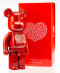 Prints & Multiples, BE@RBRICK X Alexander Girard. International Love Heart 1000%, 2009. Painted cast resin. 28 x 13-1/4 x 9-1/2 inches (71.1...
