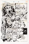 Original Comic Art:Panel Pages, Darick Robertson and Larry Mahlstedt The New Warriors #30Story Page 18 Original Art (Marvel...