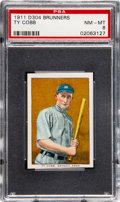 Baseball Cards:Singles (Pre-1930), 1911 D304 Brunners Bread Ty Cobb PSA NM-MT 8....