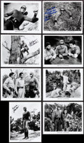 """Movie Posters:Serial, Adventures of Captain Africa (1990s). Autographed Restrike Photos (8) (8"""" X 10""""). Serial.. ... (Total: 8 Items)"""